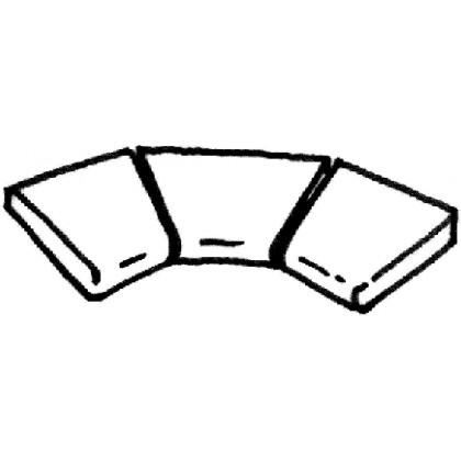 Dlažba Sahara - rohová dlaždice R 500 (vnitřní rozměr) , 3 ks