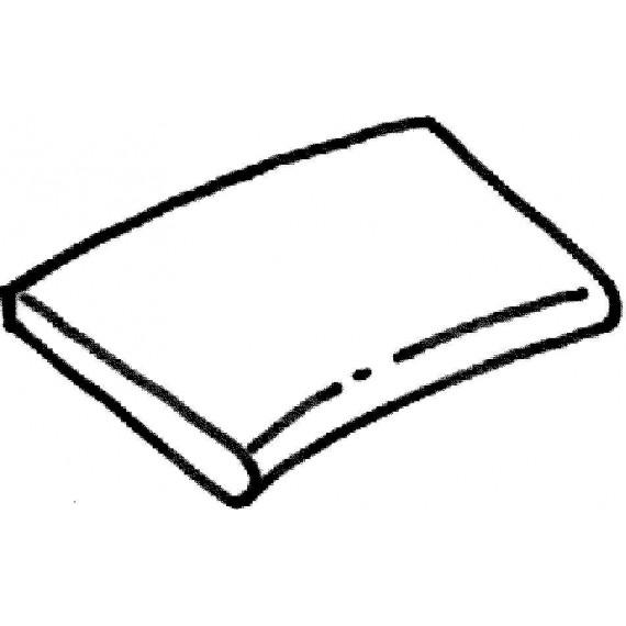 Dlažba Sahara - rádiusová dlaždice (vnitřní rozměr) R 2500