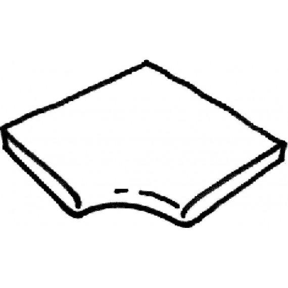 Dlažba Trianon -- rohová dlaždice R 150 int., 1 kus