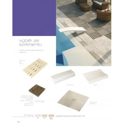 Dekorace - odtoková strouha – žlábek 340 x 500 x 65 mm