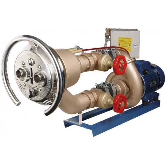 Domontážní sestava - Taifun Duo 63m3/h kulatý, bronz. čerp. 2,6 kW