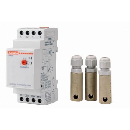 Elektronické automatické hlídání hladiny 3x sonda (na DIN lištu)