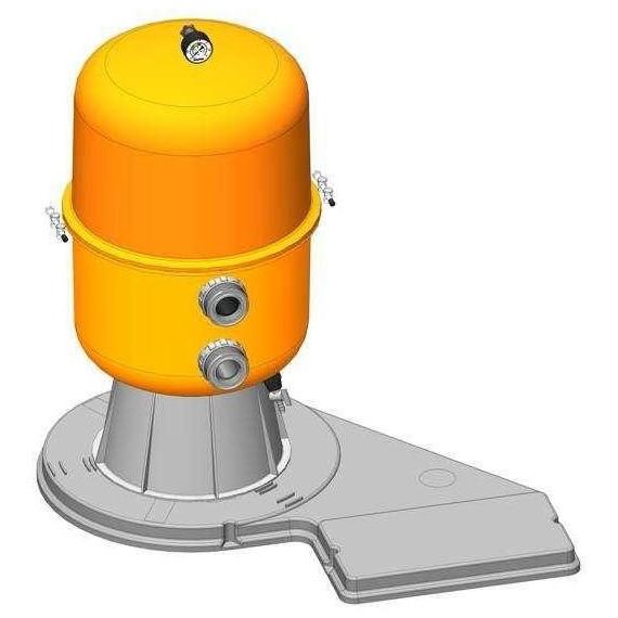 Filtrační zařízení - Dělený Kit 400, 6 m3/h, 230 V, 6-ti cest. boč. ventil, čerp. Preva 33