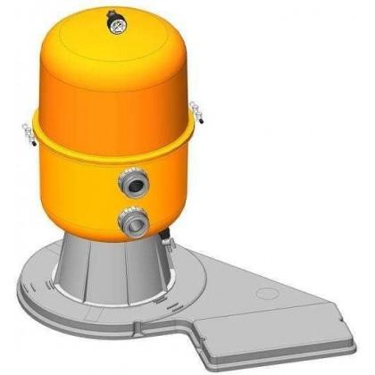 Filtrační zařízení - Dělený Kit 500, 9 m3/h, 230 V, 6-ti cest. boč. ventil, čerp. Preva 50