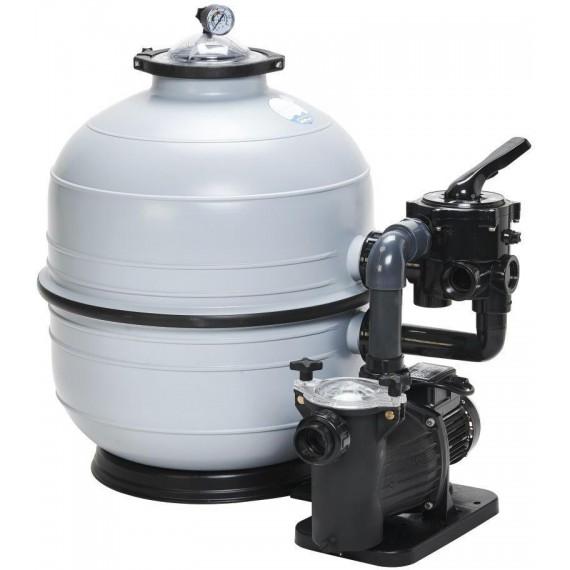 Filtrační zařízení - KIT MIDI 400, 6 m3/h, 230 V, 6-ti cest. boč. ventil, čerp. Preva