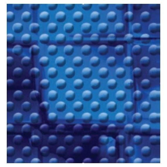 Fólie pro vyvařování bazénů - AVfol Decor Protiskluz - Mozaika Modrá Electric; 1,65m šíře, 1,5mm, metráž