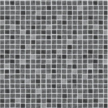 Fólie pro vyvařování bazénů - AVfol Decor Protiskluz - Mozaika Šedá 1,65m šíře, 1,5mm, metráž