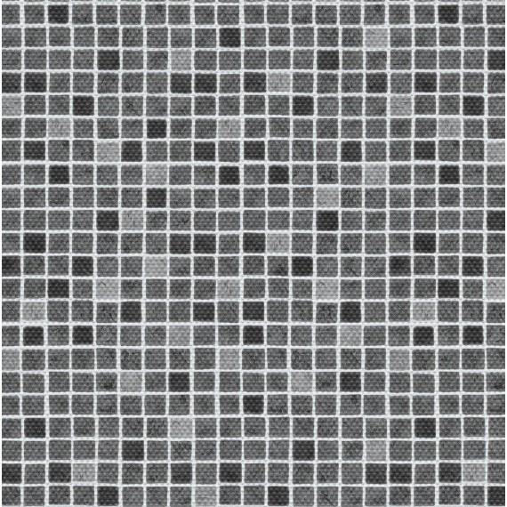 Fólie pro vyvařování bazénů - AVfol Decor Protiskluz - Mozaika Šedá; 1,65m šíře, 1,5mm, metráž