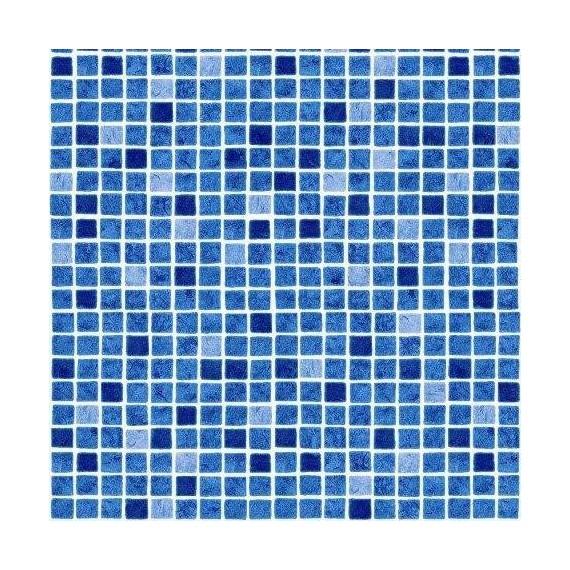 Fólie pro vyvařování bazénů - AVfol Decor - Mozaika Modrá; 1,65m šíře, 1,5mm, 25m role
