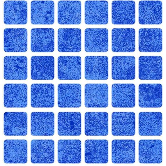 Fólie pro vyvařování bazénů - AVfol Relief - 3D Mozaika Light Blue, 1,65m šíře, 1,5mm, 20m role