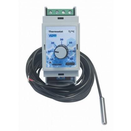 Elektronický termostat na DIN lištu (do rozvaděče)