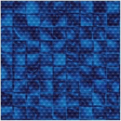 AVfol Decor Protiskluz - Mozaika Modrá Electric, 1,65m šíře, 1,5mm, role 20m